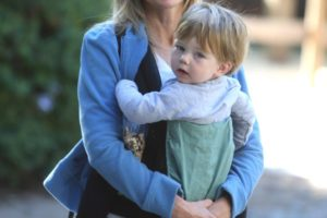 Courtney Thorne-Smith and son, Jake, go for a hike in Brentwood, CA